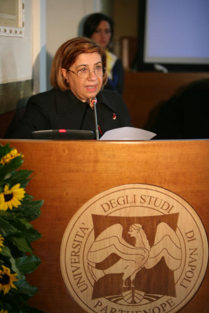 """Giuseppina Tripodi Consigliere delegato della Fondazione Rita Levi-Montalcini.  li """"Parthenope"""""""